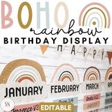 Boho Rainbow Birthday Display