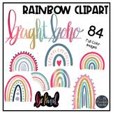 Boho Rainbow   Bright Edition   Bright Rainbow   Boho Clipart