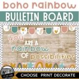 Boho Rainbow Bulletin Board You Are A Rainbow of Possibilities