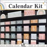 Boho Rainbow CALENDAR | EDITABLE