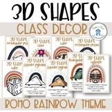 Boho Rainbow Class Decor 3D Poster Pack