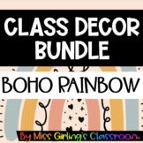 Boho Rainbow Class Decor BUNDLE