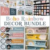 Boho Rainbow Classroom Decor BUNDLE