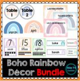 Boho Rainbow Classroom Decor Growing Bundle