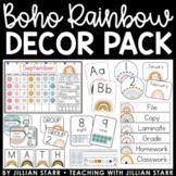 Boho Rainbow Classroom Decor Pack