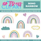 Boho Rainbow Clip Art (Digital Use Ok!)