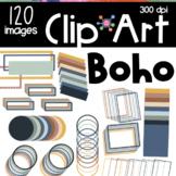 Boho Rainbow Color Frames Borders Bundle