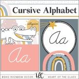 Boho Rainbow - Cursive Alphabet Posters