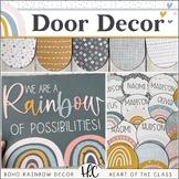 Boho Rainbow DOOR DECOR | EDITABLE