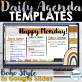 Boho Rainbow Daily Schedule Template | Daily Agenda Google Slides