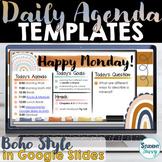 Boho Rainbow Daily Schedule Template  Daily Agenda Google