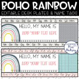 Boho Rainbow Desk Name Tags