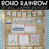 Boho Rainbow Distance Learning Backdrop Decor