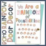 Boho Rainbow Door Decor Back to School Door EDITABLE