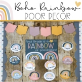 Boho Rainbow - Door Decor {Editable}