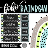 Boho Rainbow EDITABLE Schedule and Posters