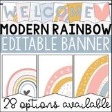 Boho Rainbow Editable Banner | Welcome Banner