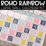 Boho Rainbow Editable Calendar