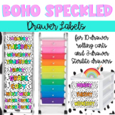 Boho Rainbow Editable Drawer Labels for 10-drawer AND Sterilite drawers-TWO sets