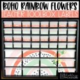 Boho Rainbow Flowers Classroom Decor | Teacher Toolbox Labels - Editable!