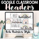 Boho Rainbow Google Classroom Header   Boho Rainbow Google