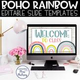 Boho Rainbow Google Slides Templates Distance Learning