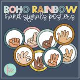 Boho Rainbow Hand Signals Posters (Editable)