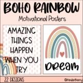 Boho Rainbow Inspirational Quotes Motivational Posters