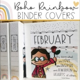 Boho Rainbow - Monthly Theme Binders