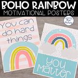 Boho Rainbow Motivational Posters