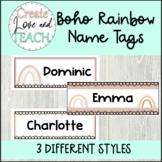 Boho Rainbow Name Tags Desk Plates