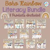 Boho Rainbow Neutral Color Themed Literacy Bundle **11 Pro