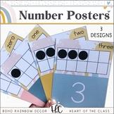 Boho Rainbow - Number Posters