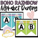 Boho Rainbow Pennant, Banner, Bunting - Boho Rainbow Class