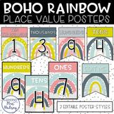 Boho Rainbow Place Value Display