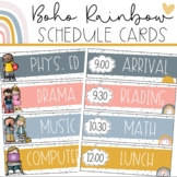 Boho Rainbow SCHEDULE CARDS | EDITABLE
