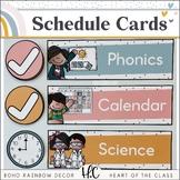 Boho Rainbow - Schedule Cards {Editable}