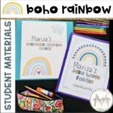 Boho Rainbow Student Organization   Take Home Folder   Rea
