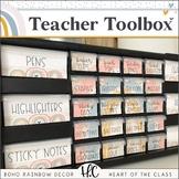 Boho Rainbow TEACHER TOOLBOX | EDITABLE