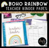Boho Rainbow Teacher Binder   Grade Sheets