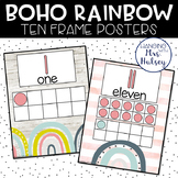 Boho Rainbow Ten Frame Posters
