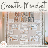 Modern BOHO RAINBOW Themed Growth Mindset Posters | Neutra