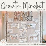 Modern BOHO RAINBOW Themed Growth Mindset Posters | Neutra
