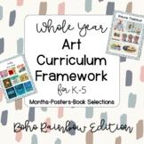 Boho Rainbow Whole Year K-5 Art Curriculum Framework