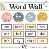 Boho Rainbow - Word Wall {Editable}