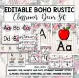 Rustic Boho Editable Classroom Decor Set
