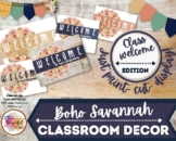Boho Savannah Welcome to our Class posters and decorative pennants