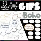 Boho Speech Bubbles GIFs | Editable ANIMATED Clipart