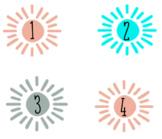 Boho Sun Desk Numbers
