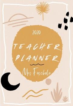 Boho Teacher Planner 2020
